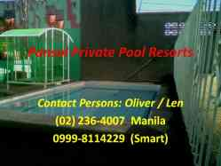 Pansol private pool resort